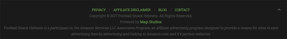 Amazon Footer Affiliate Link Disclosure Example