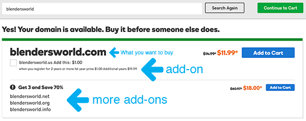 Domain Name Add-ons From GoDaddy
