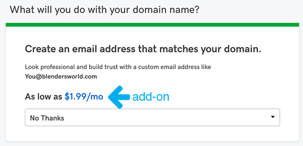 Email Add-on From GoDaddy