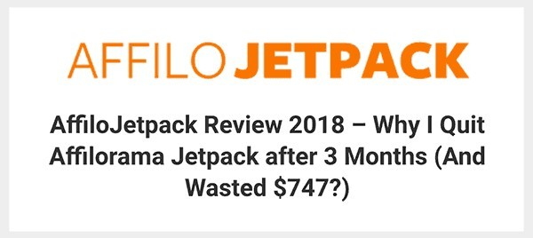 AffiloJetpack Review by Affiliate Marketing Informant