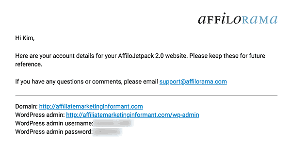 Affilorama Website Login
