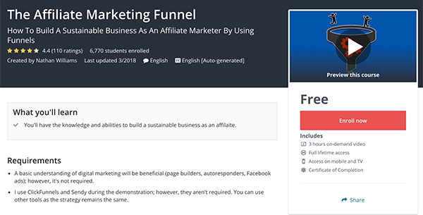 11 Free Affiliate Marketing Courses on Udemy – Affiliate