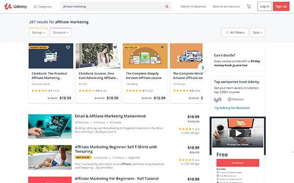 Udemy Free Affiliate Marketing Courses
