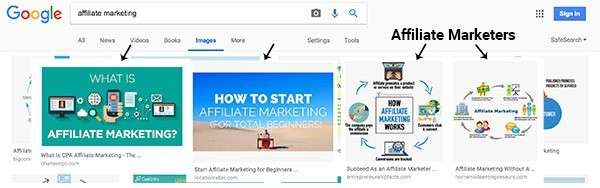 affiliate marketer examples