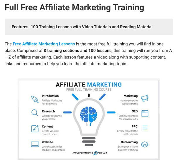 Affiliate Link Example for Recommended Affiliate Marketing Training