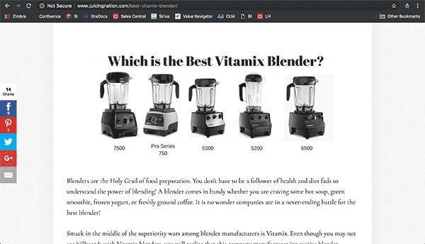 Best Blender Review Website Example 2