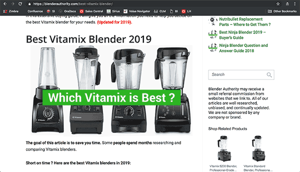 Best Blender Review Website Example
