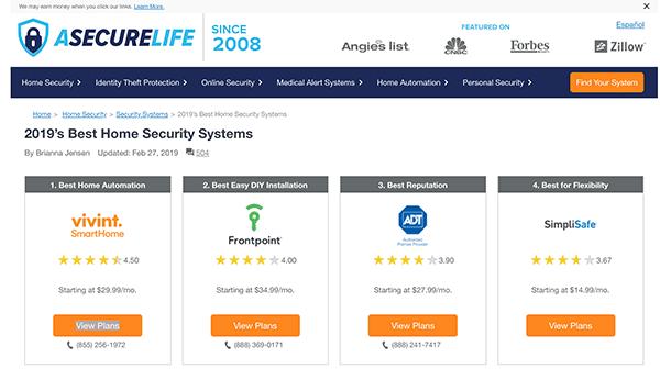 best home security website example