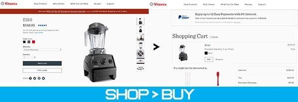 company website buy flow