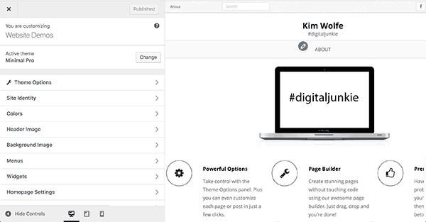 Customize WordPress Website Appearance