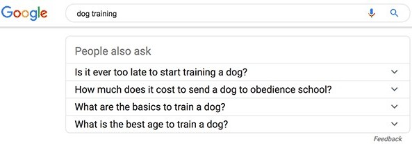 google questions people also ask