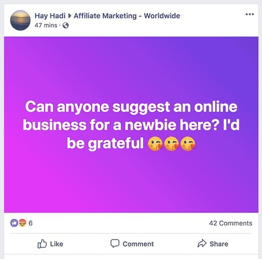 promote affiliate products on Facebook