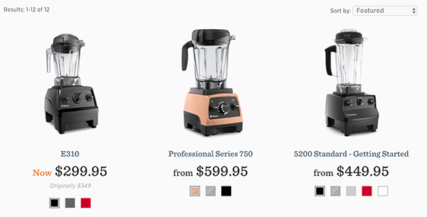 Vitamix Blender Models