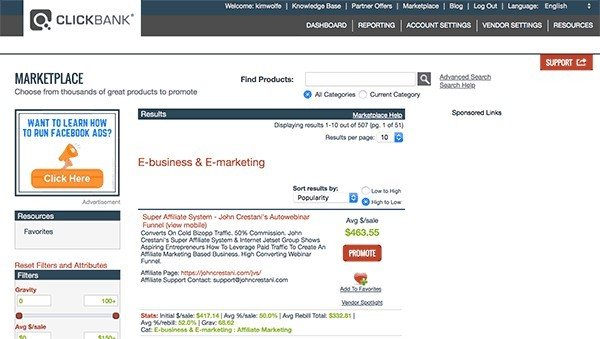 what is clickbank affiliate marketing