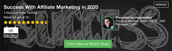 success with affiliate marketing 2020 training current strategies example