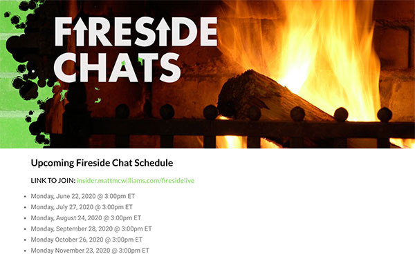 Affiliate Insider Monthly Fireside Chats