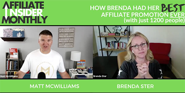 Affiliate Insider Monthly Insider Profile with Brenda Ster