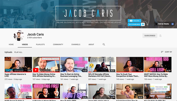 Jacob Caris YouTube Channel
