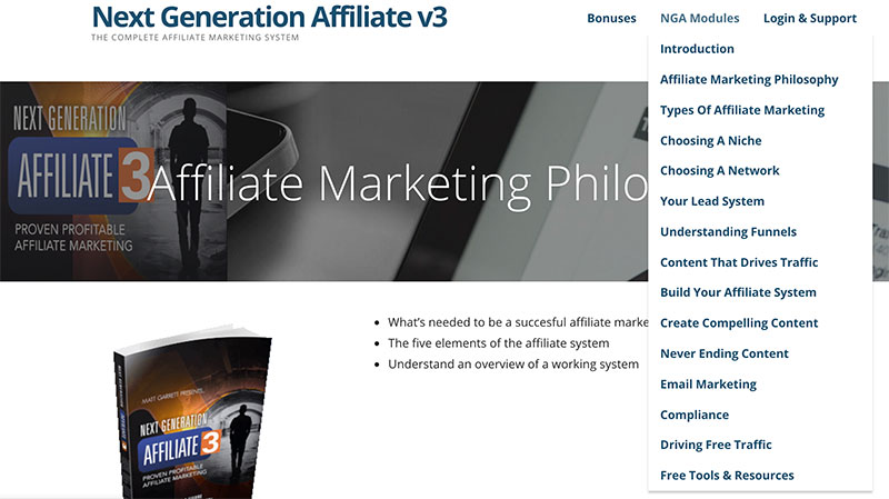 Next Generation Affiliate Review 15 Training Modules