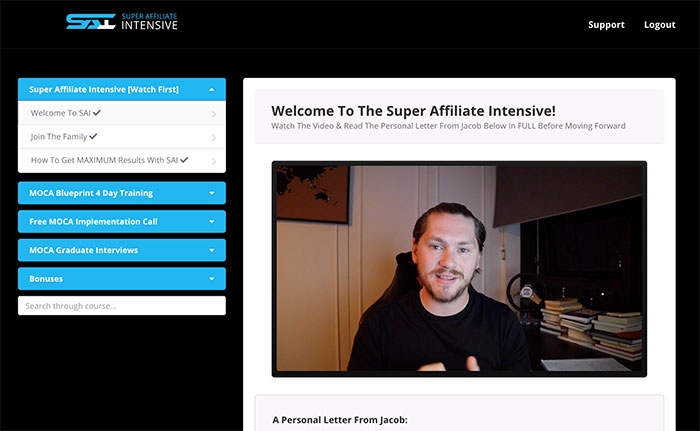 Super Affiliate Intensive mini high ticket affiliate marketing training course