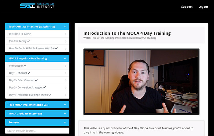 Super Affiliate Intensive MOCA Blueprint
